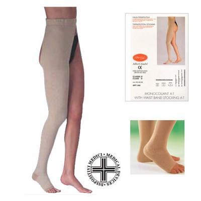 [이허브]알베르트앙드레 한쪽다리 허벅지형 오픈토 의료용압박스타킹 강압 30-40mmHg (왼쪽) (642)
