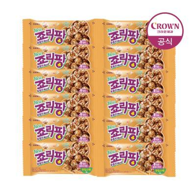 크라운 죠리퐁 죠리팡 뮤즐리 딸기마카롱 34g 12개