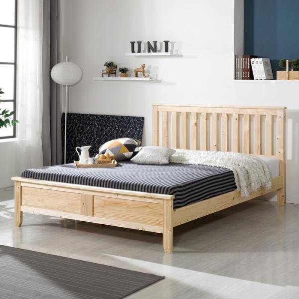 유럽형 소나무 원목 침대 퀸 (7존포켓매트) FN201