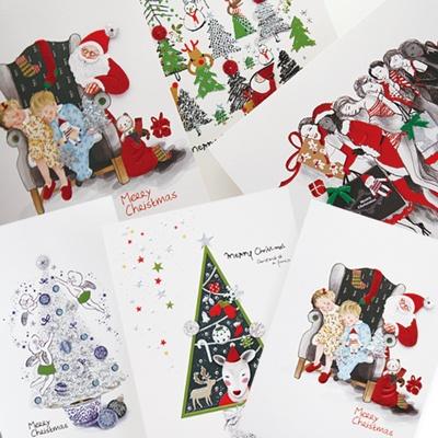 크리스마스카드/성탄절/트리/산타 FS207 Set(6종 세트상품)