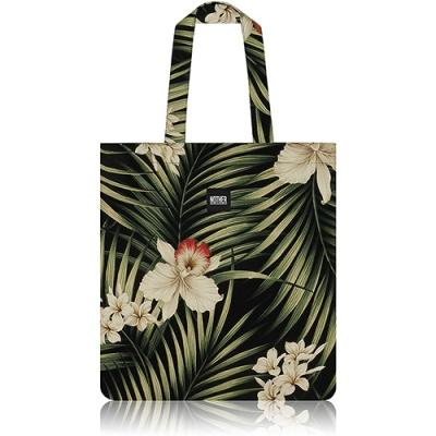 nother Fern Hawaiian Flat Tote Bag (Black)