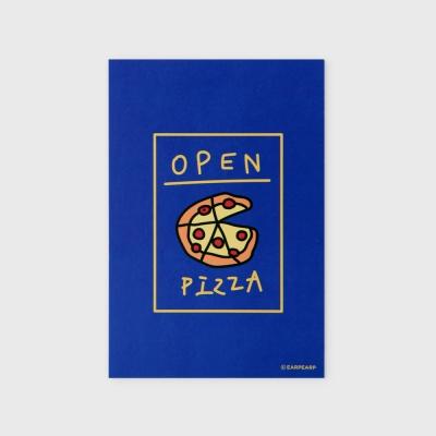 [어프어프] 엽서 Delicious pizza-blue