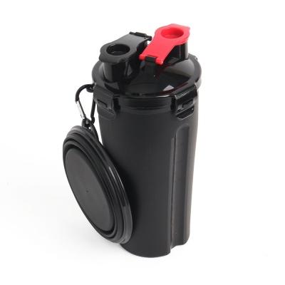 강아지 휴대용 물밥통(물통+사료통+밥그릇) (블랙)