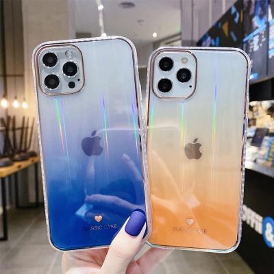 아이폰 12 미니 pro max 그라데이션 투명 젤리케이스