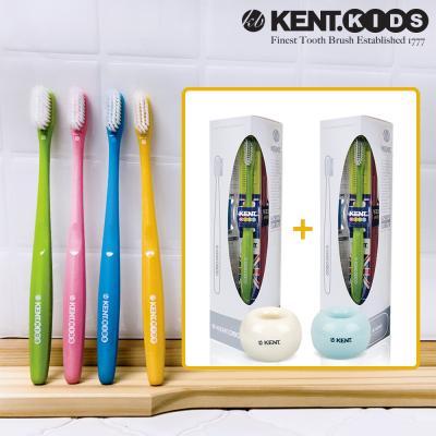 켄트키즈 2세트(칫솔8개 + 스탠드2개(색상랜덤))
