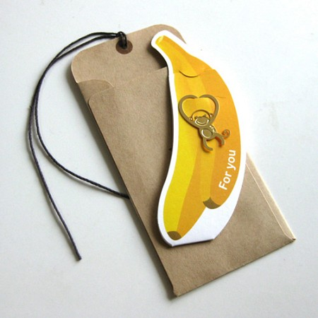 하트 원숭이 - 북마크 택카드