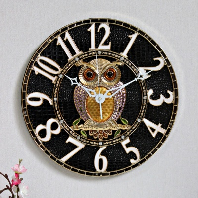 (kjco048)저소음 샤론부엉이 350벽시계 (G)