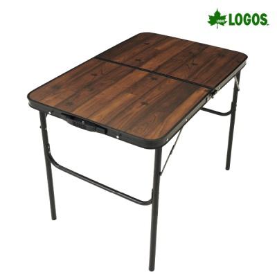 로고스 블랙 우드 접이식 캠핑 테이블 900