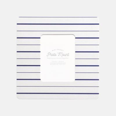 포토마운트 - 미니 마린 그레이 네이비 라인 5매