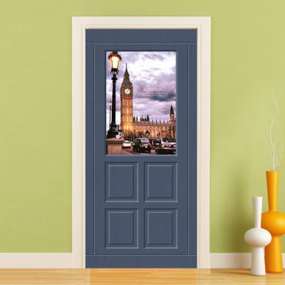 현관문시트지 엠보에어프리 런던빅벤시계탑