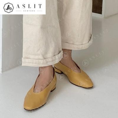 [애슬릿]사각 스틸레토 여성 베이직 플랫 슈즈 1.5cm