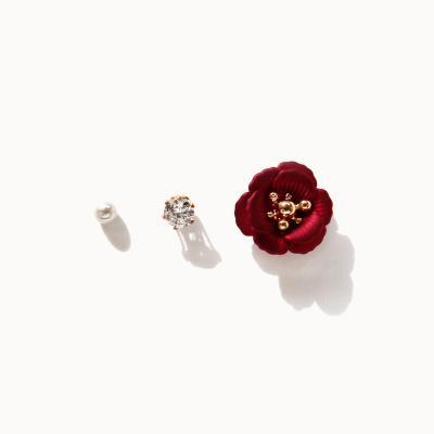 제이로렌 1M02927 데일리 장미꽃 세트귀걸이