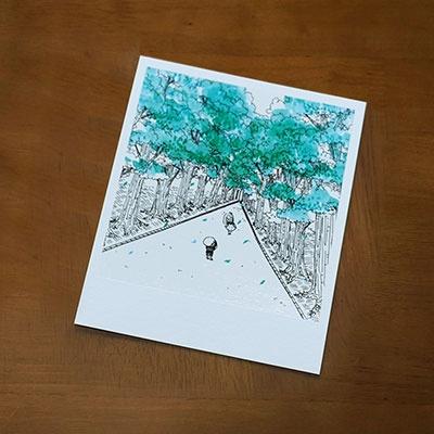 Polaroid card ver.2-폴라로이드 엽서카드