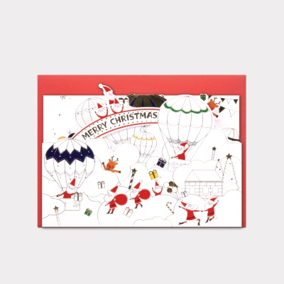 038-CM-0003 / 산타파크팝업카드(입체카드)