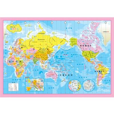 세계지도(한글) 500조각