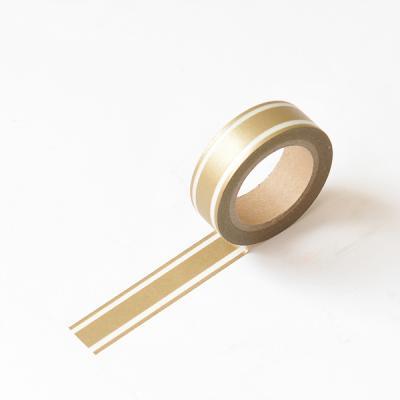 왈가닥스 메탈릭 마스킹테이프 - 36 Gold Line