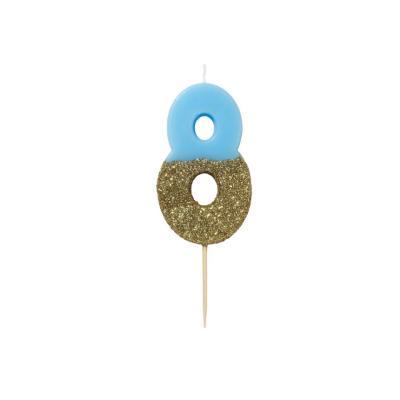 블루 글리터 숫자초 8