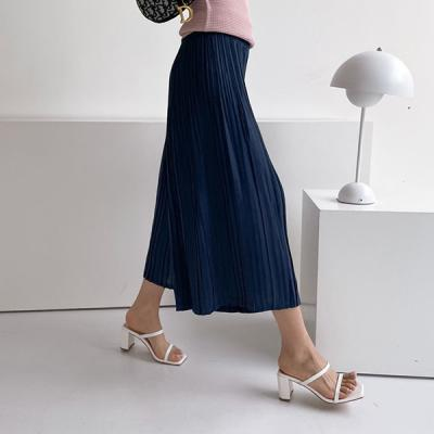 Pleats Seven Wide Pants - 치마바지