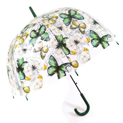 TW 나비 투명 비닐 우산 돔모양 장우산
