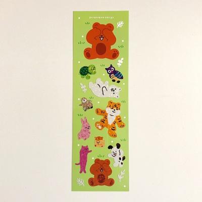 무궁화 꽃이 피었습니다 놀이 홀로그램 스티커