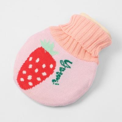 더달달 니트 보온 물주머니(350ml) (딸기)