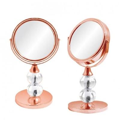 양면 미니 탁상거울 로즈골드 화장거울 스탠드거울