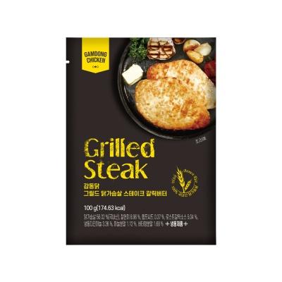 [원더그린] 감동닭 닭가슴살 스테이크 갈릭버터 8팩