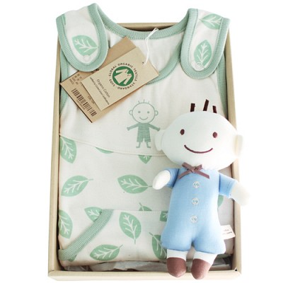 [출산선물/백일선물/돌선물/24개월/36개월선물]오가닉 꼬마신사 슬리핑 선물세트