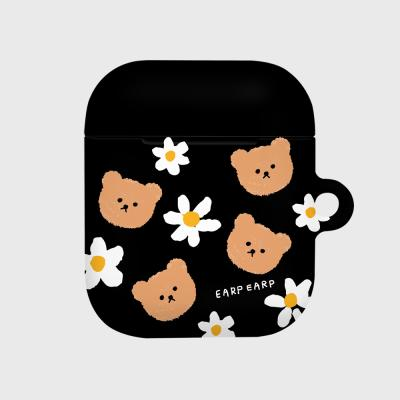 Dot flower bear-black(Hard air pods)