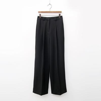 Wool Hybrid Pintuck Wide Pants