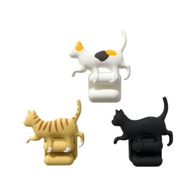 고양이 디자인 칫솔 홀더 3color