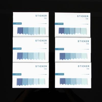블루 접착 인덱스 메모지 6p세트