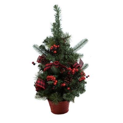 크리스마스 트리 체크 장식 나무 50cm