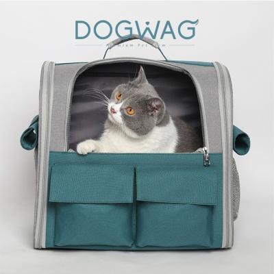 도그웨그 메쉬 백팩 강아지 산책 이동 가방 캐리어