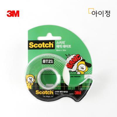 BT21 치미 3M 스카치 매직 테이프