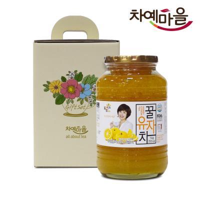 차예마을 유자 차 꿀 과일 청 선물세트