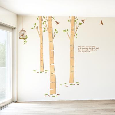[우드스티커] 자작나무숲2 (반제품)