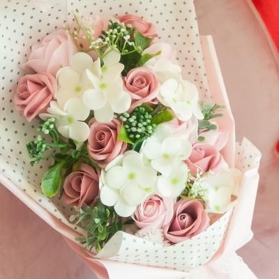 블라썸 핑크 비누꽃 꽃다발 기념일 선물 부케
