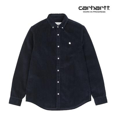 칼하트WIP L/S Madison Cord Shirt (Dark Navy / Wax)