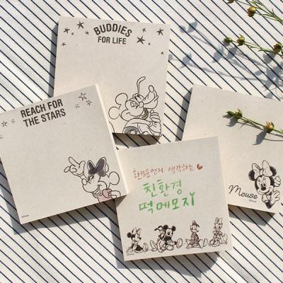 디즈니 미키와 친구들 친환경 떡메모지