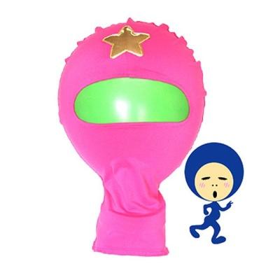 전신타이즈 쫄쫄이 가면 ( 핑크 )