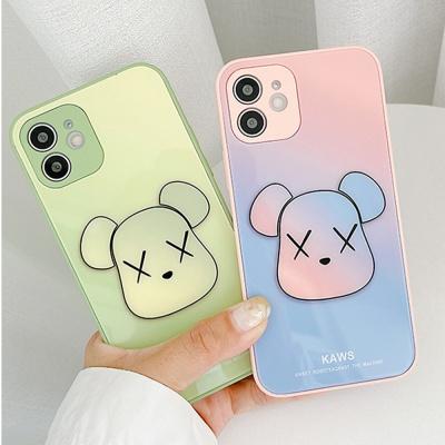 아이폰 12 11 pro max se2 7 8 곰돌이 강화유리케이스