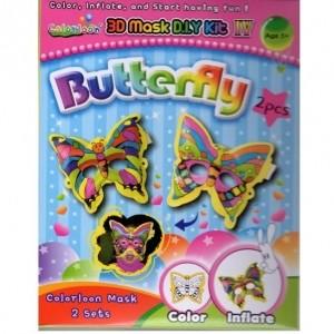 [위시스타] 색칠풍선3D Mask D.I.Y Kit(Butterfly 2종)