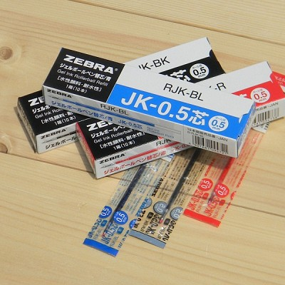 [ZEBRA] 멀티펜용-일본 제브라 사라사 0.5mm 리필심 JK-0.5 1다스(10개입)