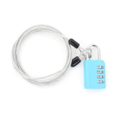 [티큐브] 멀티 안전케이블 + 4다이얼 안전자물쇠 세트 - 2.5M