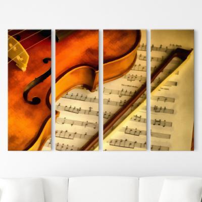 cw974-바이올린연주_대형노프레임액자세트