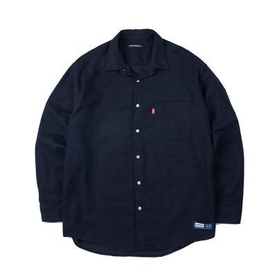 157 솔리드 셔츠 (네이비)