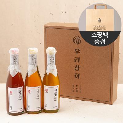 [우리상회]국내산 참기름+들기름+생들기름 선물세트