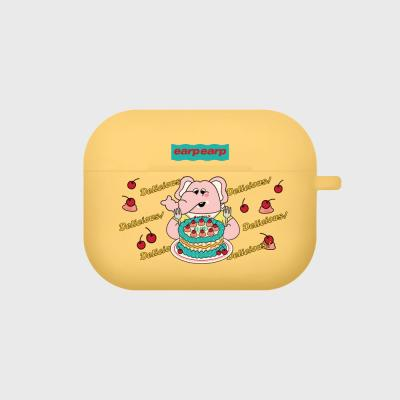 kkikki cherry cake-yellow(Air pods pro case)