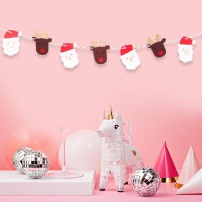 [금박] 미니 반짝이는 산타와 루돌프 가랜드